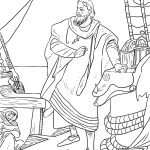 Christopher Columbus On The Santa Maria Coloring Page | Free   Free Printable Christopher Columbus Coloring Pages