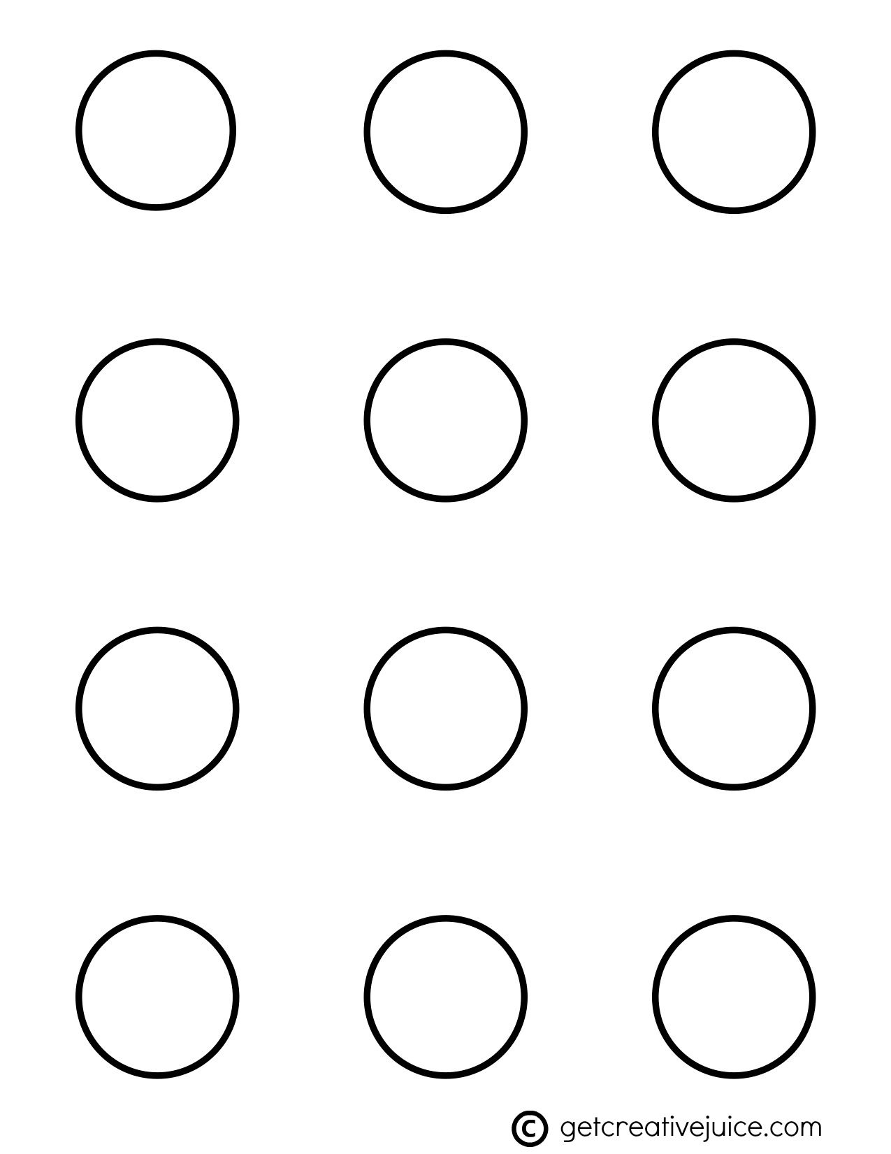 Circle 1.5 Inch Macaron Template | Dessert Before Dinner In 2019 - Free Printable 6 Inch Circle Template
