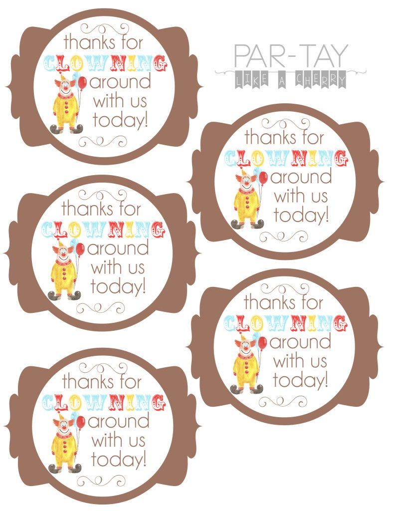 Circus Party Favor Tags   Party Like A Cherry   Pinterest   Circus - Party Favor Tags Free Printable