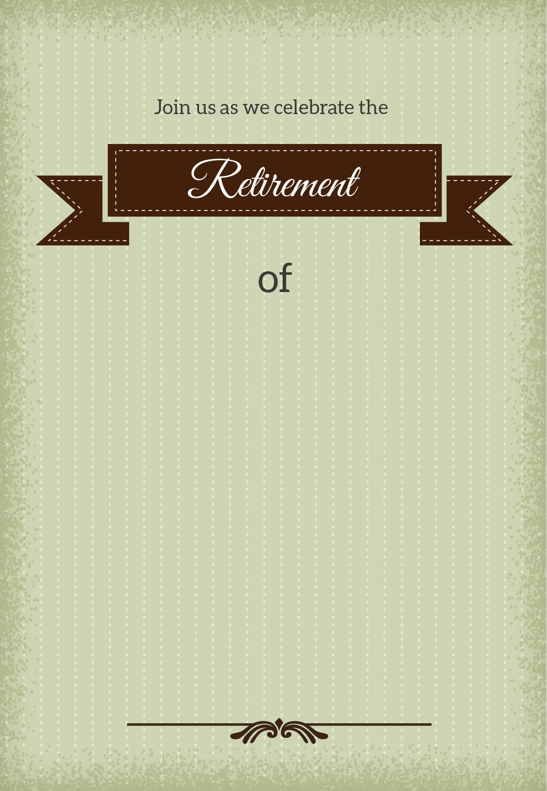 Classic Banner - Free Printable Retirement Party Invitation Template - Free Printable Retirement Party Invitations