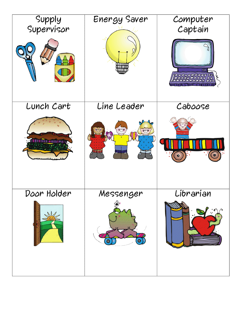 Classroom Helpers Signs.pdf | Flashcards And Pictures Like That. - Free Printable Classroom Helper Signs