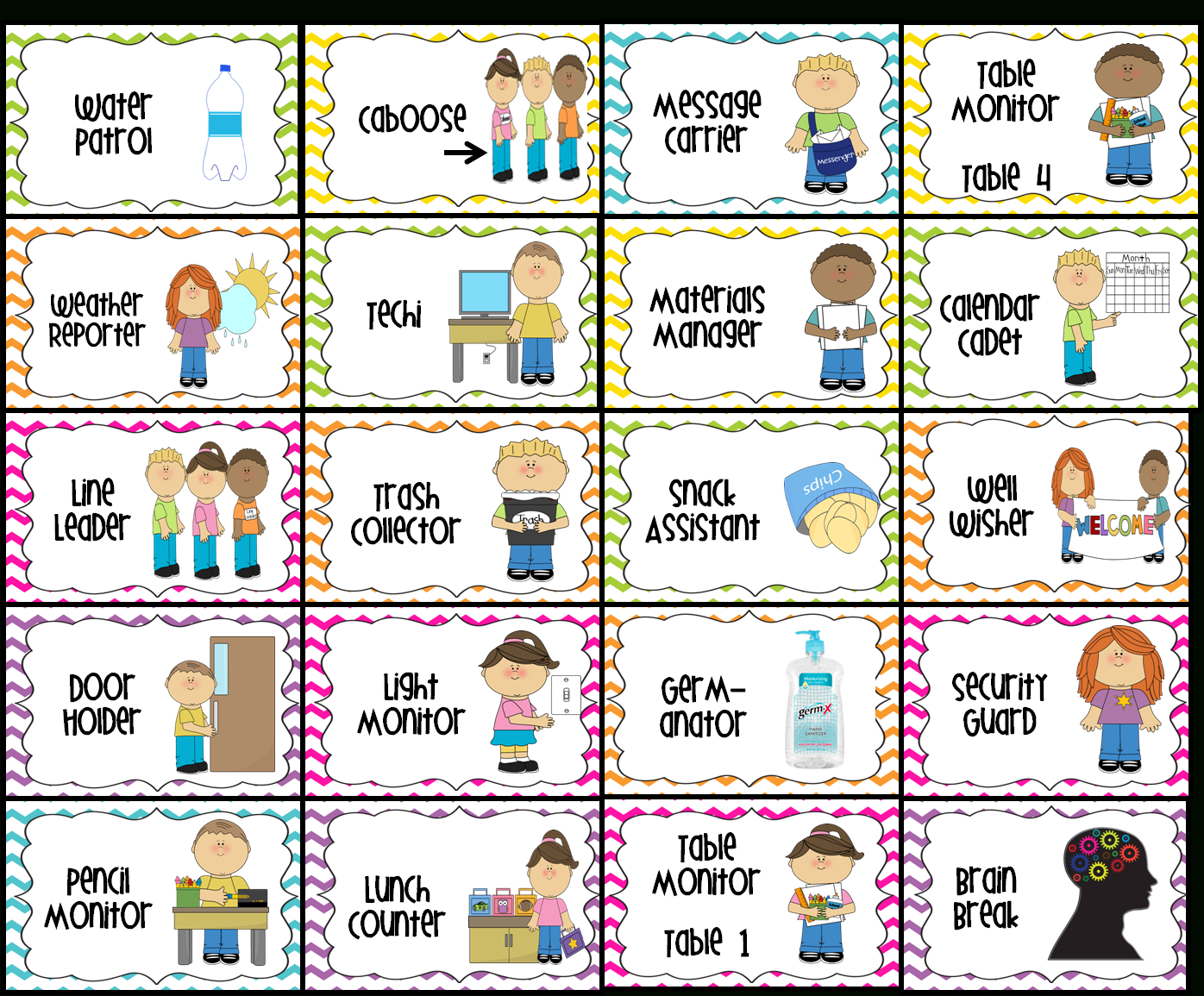 image relating to Free Printable Classroom Labels for Preschoolers identify Clroom Employment Printable H2o Patrol (2), Caboose