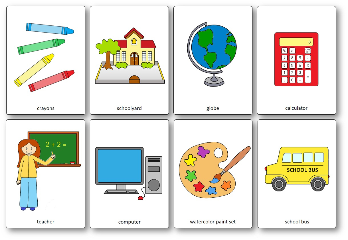 Classroom Objects Flashcards - Free Printable Flashcards - Speak And - Free Printable Flash Cards