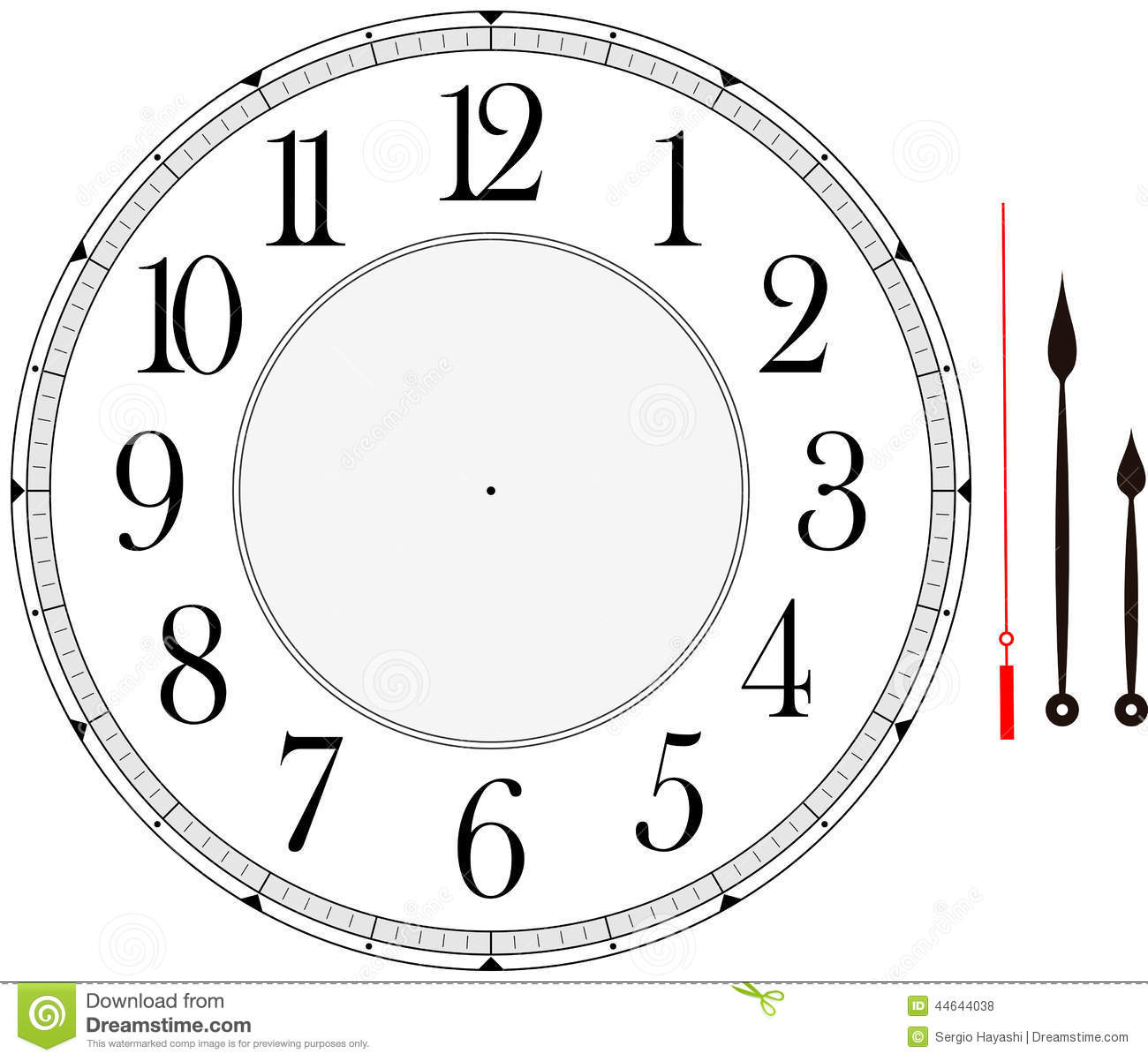 Clock Face Stock Vector. Illustration Of Vector, Hour - 44644038 - Free Printable Clock Faces