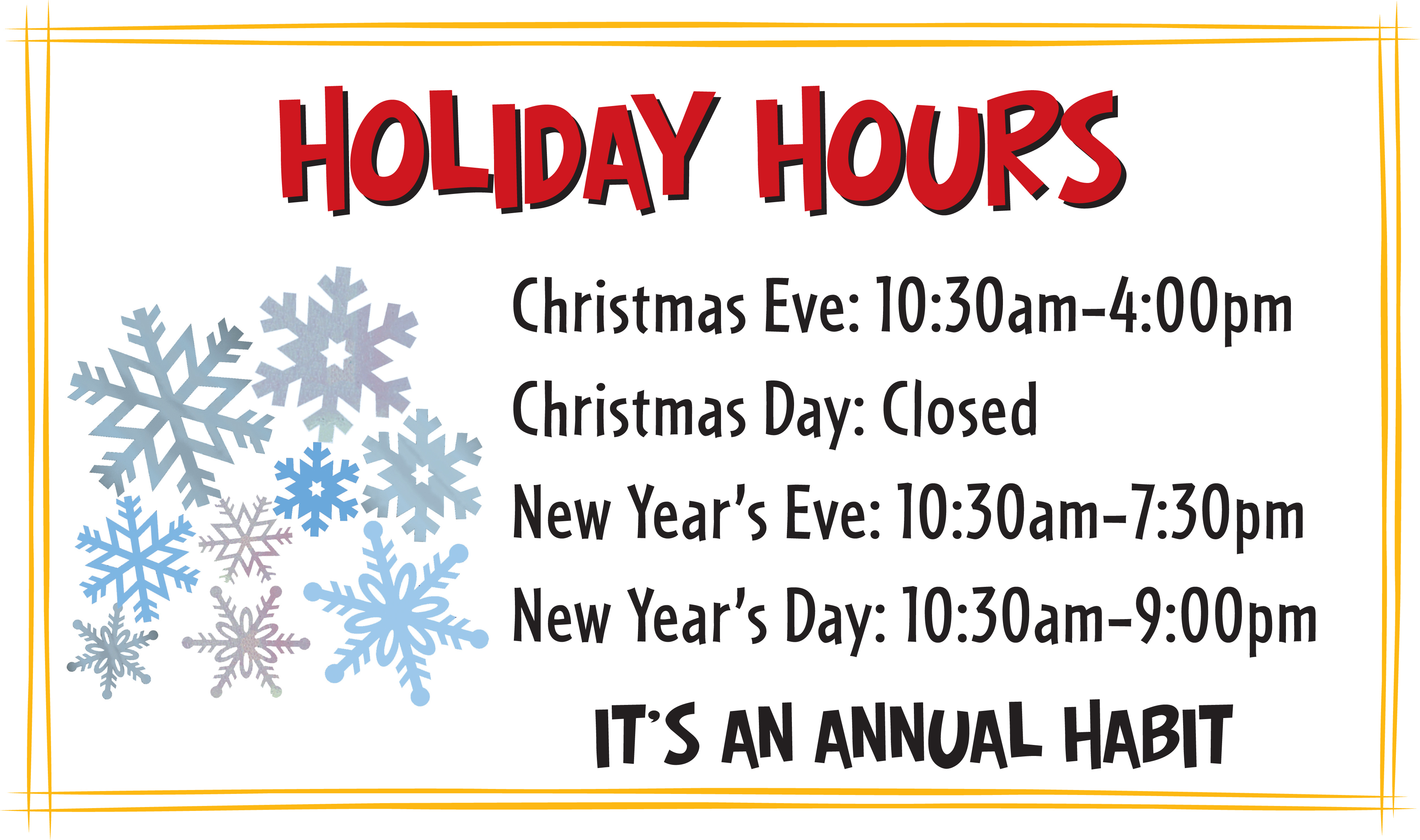 Closed Christmas Signs Printable – Festival Collections - Free Printable Holiday Signs Closed