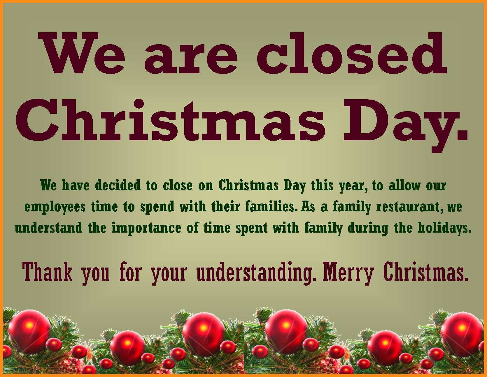 Closed For Holidays Sign - Rehau.hauteboxx.co - Free Printable Closed Thanksgiving Day Signs