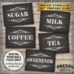 Coffee Bar Signs, Coffee Sign, Beverage Station, Tea Sign, Wedding   Free Printable Coffee Bar Signs