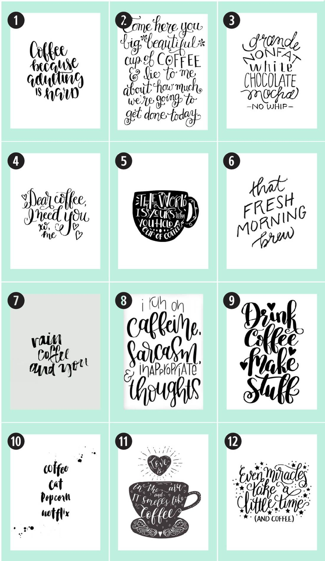 Coffee Free Printables: 180+ Ultimate Guide   Printable Decor, Free - Free Coffee Printable Art
