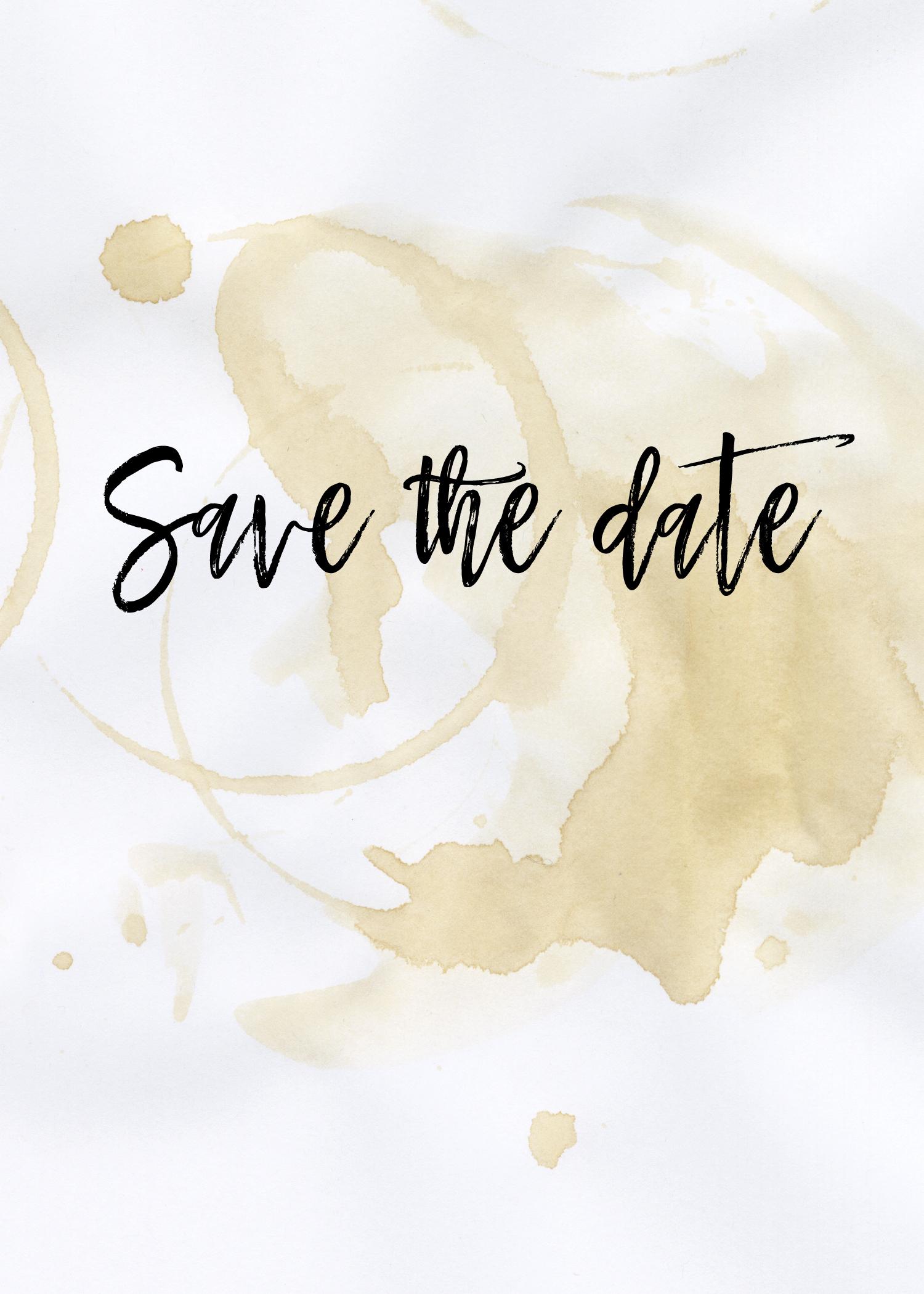 Coffee Save The Date Invitation Template Lovely Free Printable Save - Free Printable Save The Date Invitation Templates