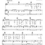 Cohen   Hallelujah Sheet Music For Voice, Piano Or Guitar [Pdf]   Free Printable Piano Sheet Music For Hallelujah By Leonard Cohen