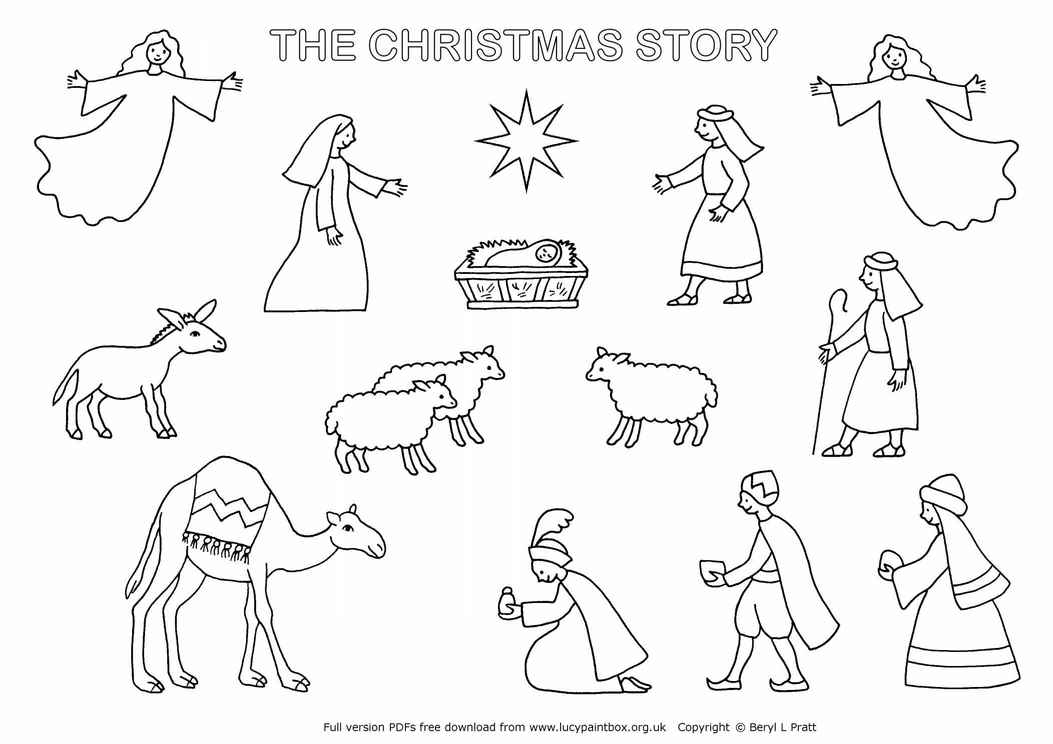 Collection Of Printable Christmas Nativity Coloring Pages | Download - Free Printable Christmas Story Coloring Pages