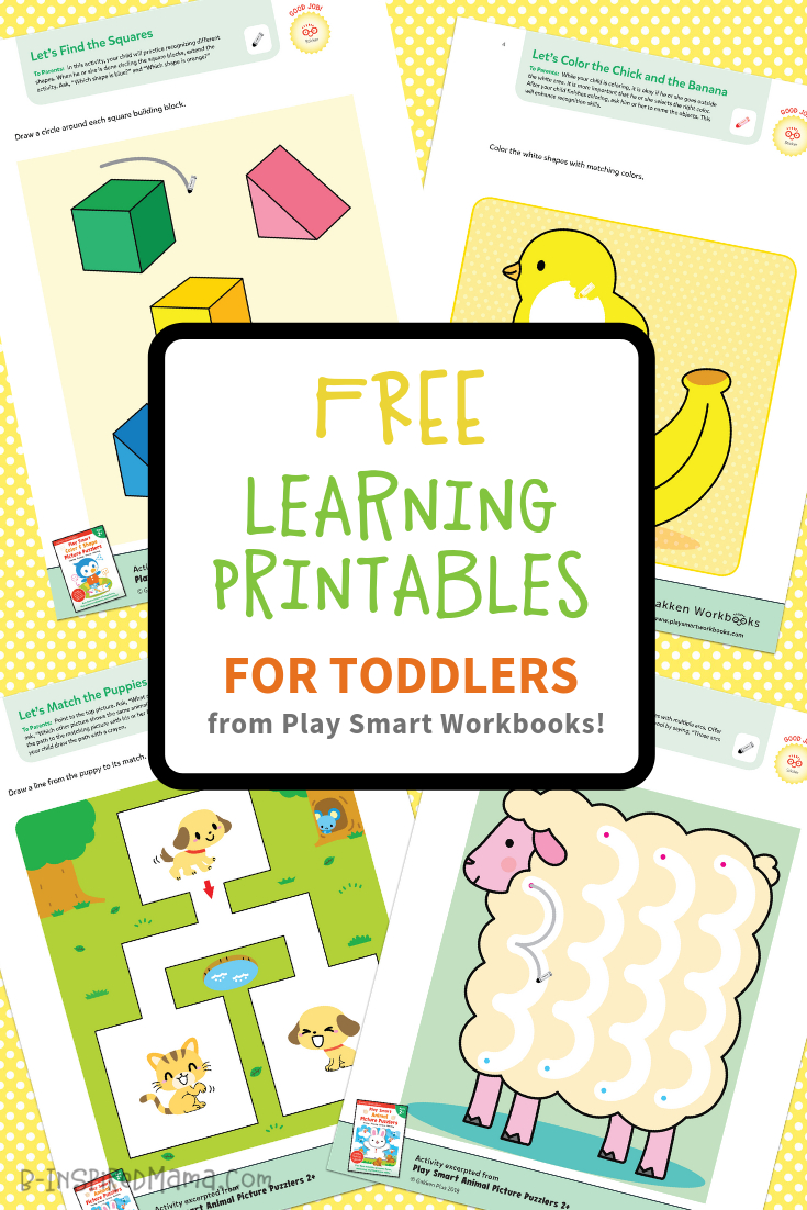 Colorful & Fun Free Printables For Toddlers To Learn From - Free Printable Learning Pages For Toddlers