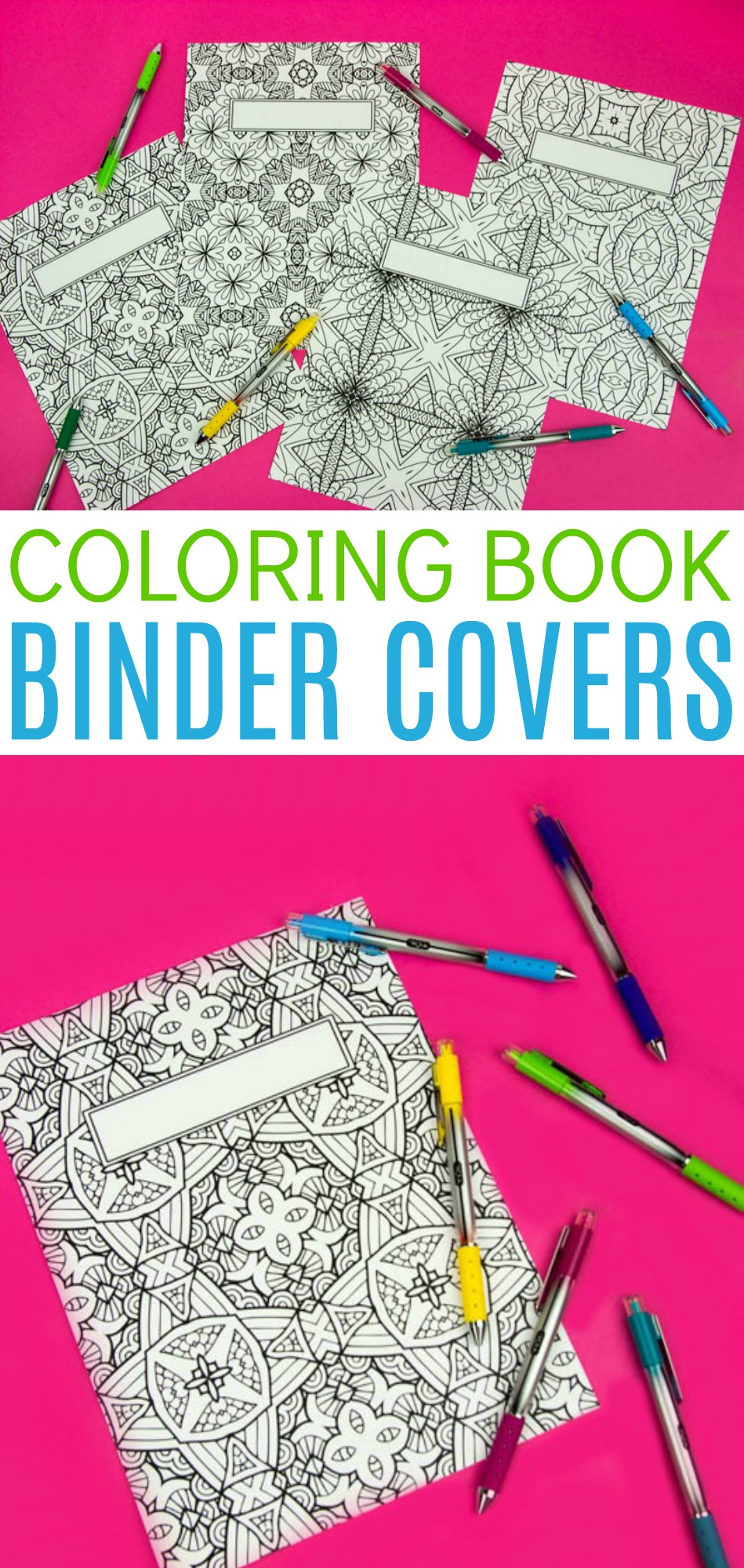 Coloring Book Binder Covers- Free Printable - A Little Craft In Your Day - Free Printable Binder Covers To Color
