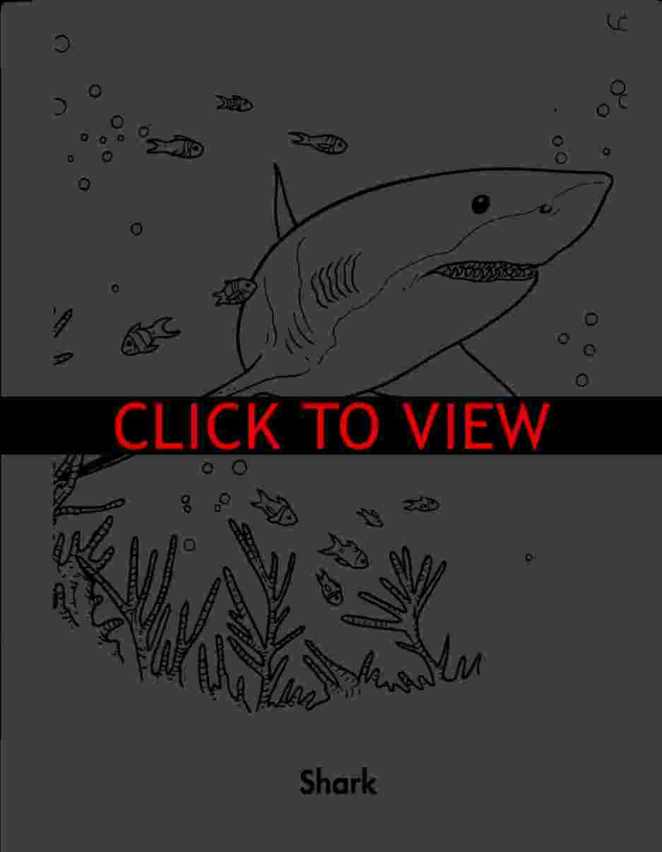 Coloring Book Pictures Of Sharks | Coloring Pages - Free Printable Shark Coloring Pages