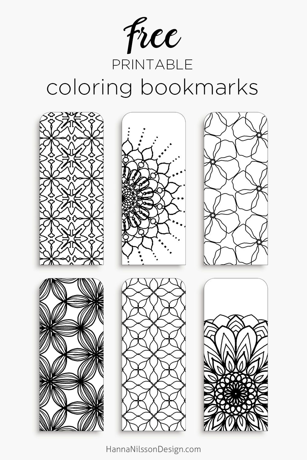 Coloring Bookmarks – Print, Color And Read | Hanna Nilsson Design - Free Printable Bookmarks Templates