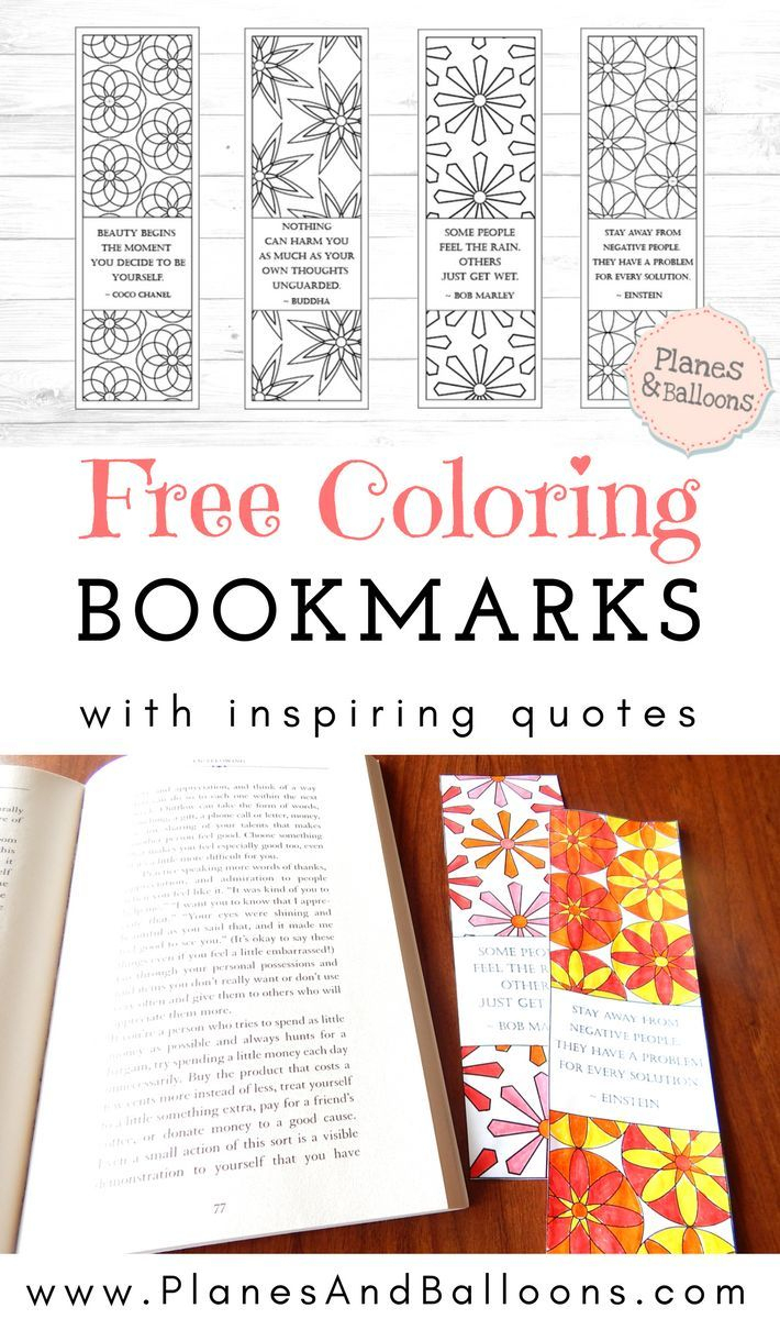 Coloring Bookmarks With Quotes You Just Won't Be Able To Resist - Anime Bookmarks Printable For Free