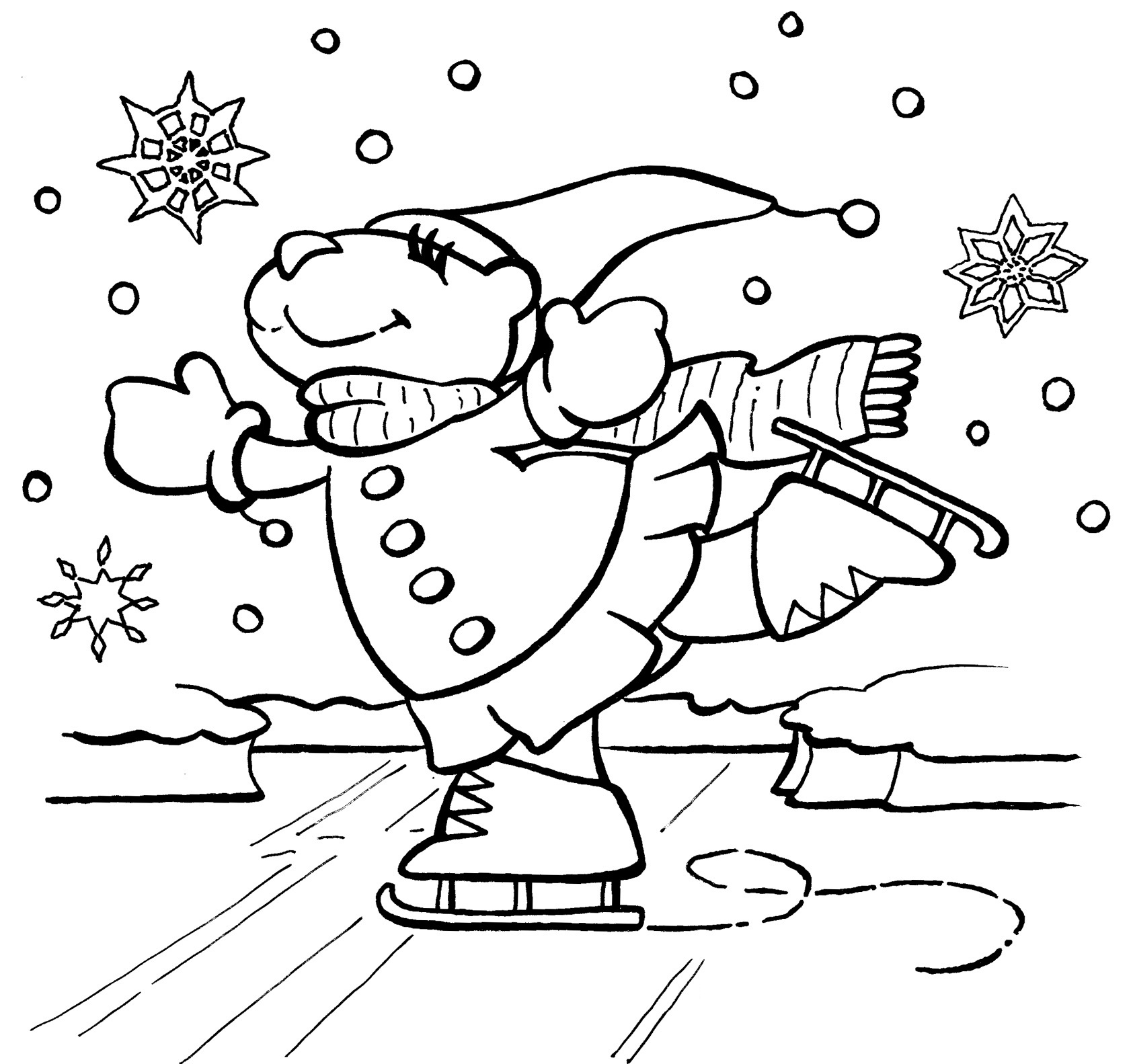 Coloring Pages ~ Awesome Free Winter Coloring Pages Kids For 47 - Free Printable Winter Coloring Pages