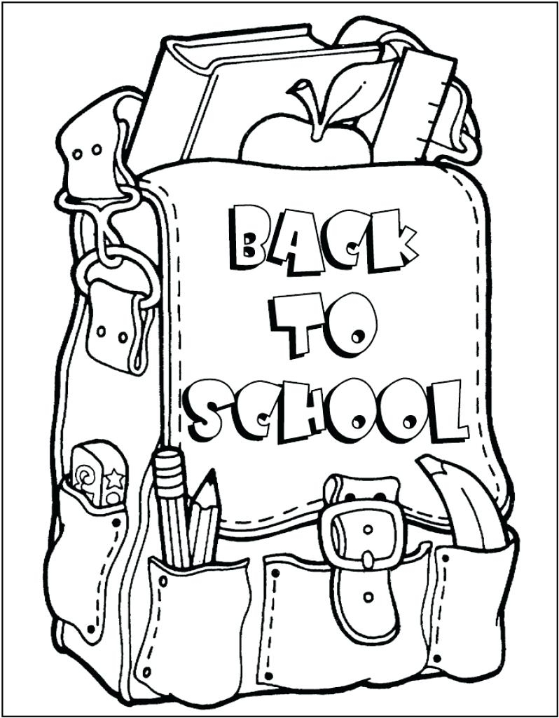 Coloring Pages : Back To School Coloring Page Free Pages Printable - Back To School Free Printable Coloring Pages