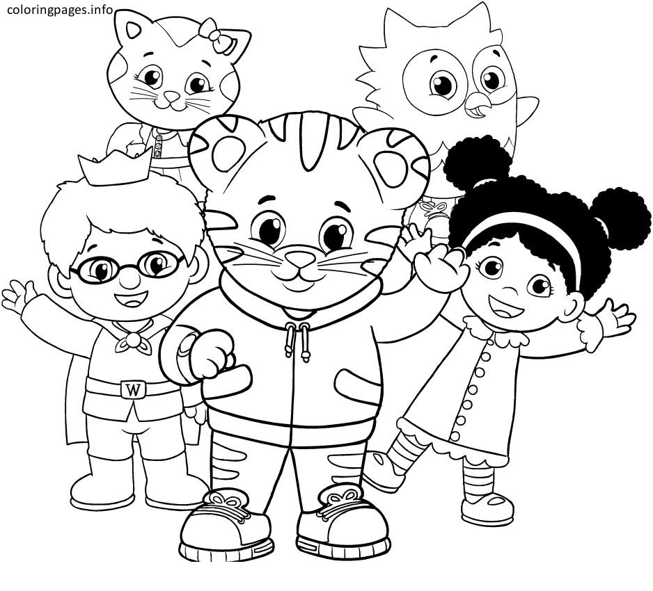 Coloring Pages ~ Coloring Pages Daniel Tiger Image Ideas Pbs Kids - Free Printable Daniel Tiger Coloring Pages