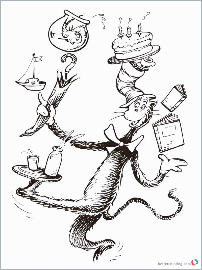 Coloring Pages ~ Coloring Pages Dr Seuss Book Prettier Cat In The - Free Printable Cat In The Hat Pictures