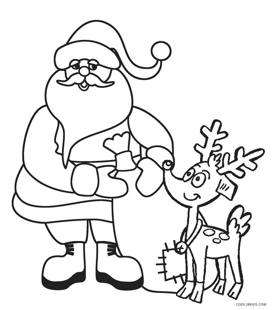Coloring Pages : Coloring Pages Free Printable Santa For - Xmas Coloring Pages Free Printable