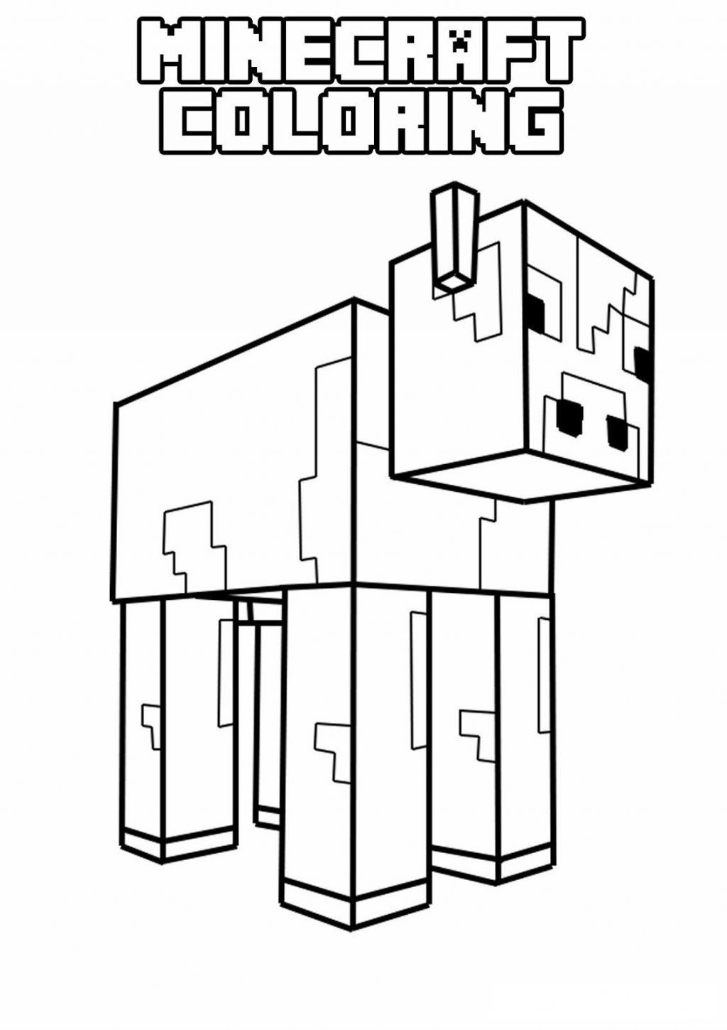 Coloring Pages ~ Coloring Pages Minecraft Sword Story Mode Copy Page - Free Printable Minecraft Activity Pages