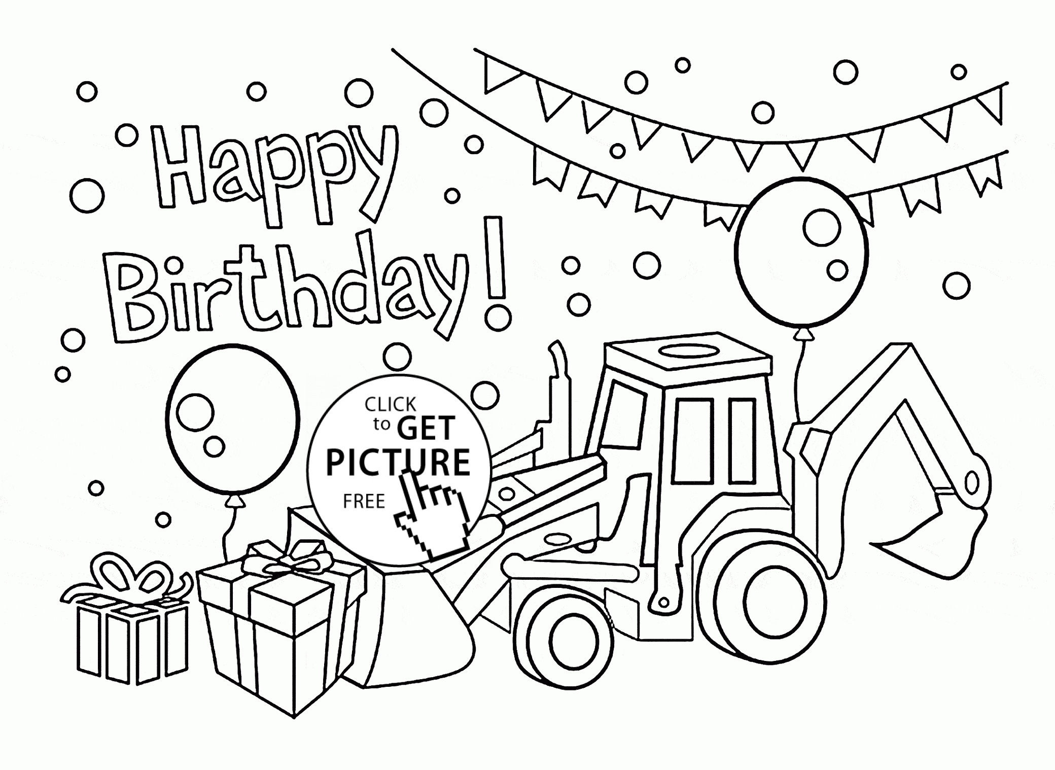 Coloring Pages : Coloring Pages Printableday Picture Inspirations - Free Printable Birthday Cards To Color