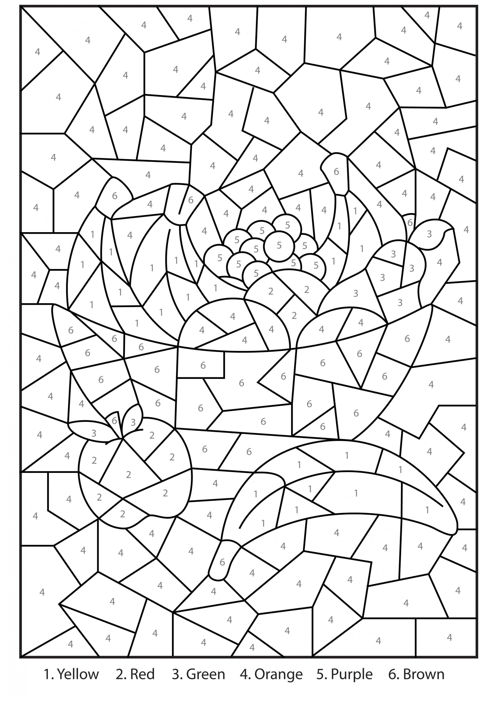 Coloring Pages Colornumber Letter P Imposing Free For Adults - Free Printable Christmas Color By Number Coloring Pages