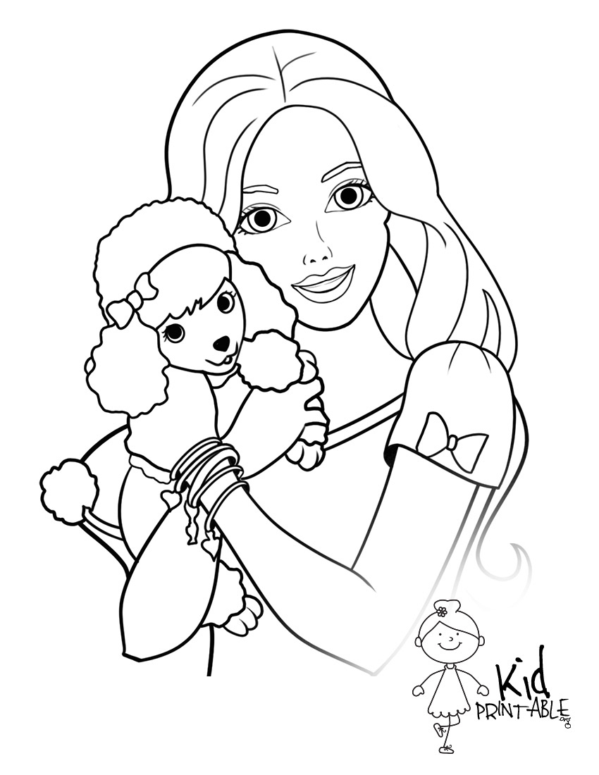 Coloring Pages : Excelent Barbie Coloring Sheets For Girls Doll - Free Printable Barbie Coloring Pages