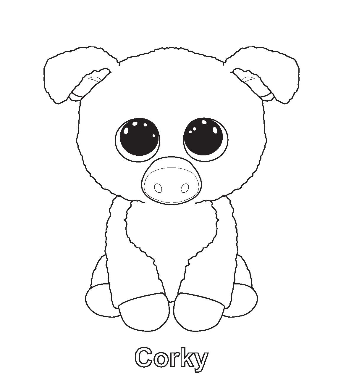 Coloring Pages : Excelent Free Beanie Boo Coloring Pages - Free Printable Beanie Boo Coloring Pages