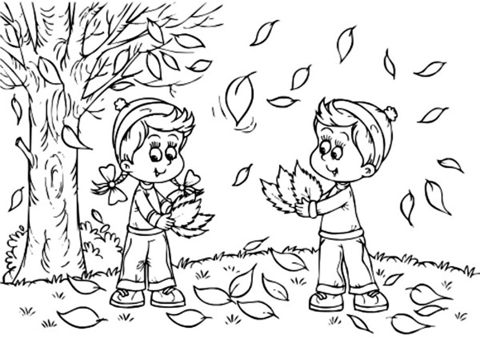 Coloring Pages For Autumn Season - Dheashintiapriliani - Free Printable Coloring Pages Fall Season