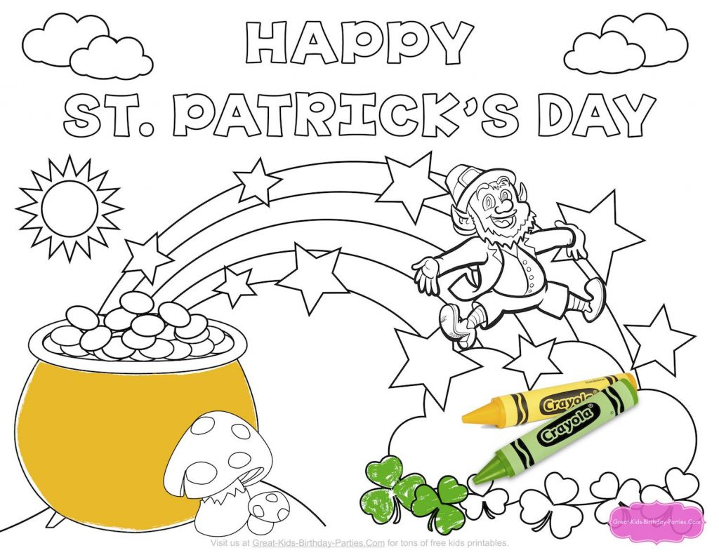 Coloring Pages ~ Free Coloring Sheets For St Patricks Dayfree Day - Free Printable Saint Patrick Coloring Pages