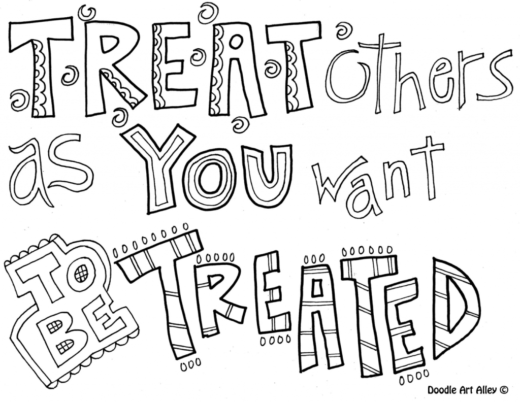 Coloring Pages ~ Free Printable Coloring Pages Quotes Photo Ideas - Free Printable Coloring Pages On Respect