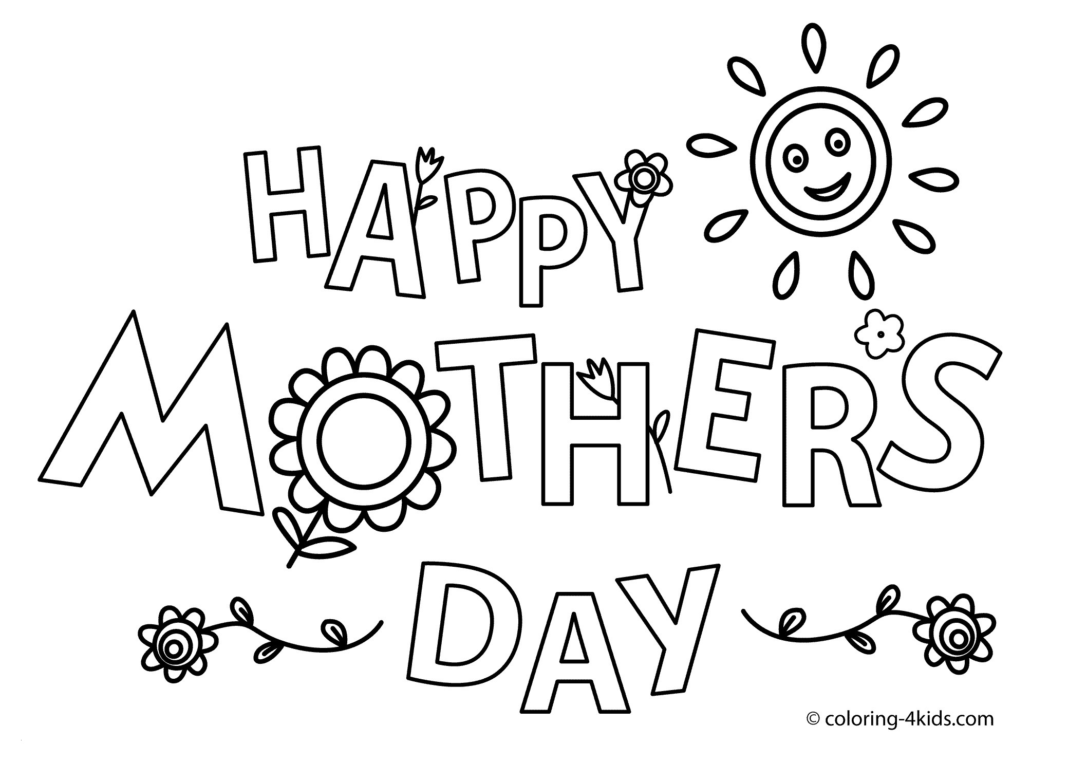 Coloring Pages ~ Free Printable Mothersay Card Cards Coloring For - Free Printable Mothers Day Coloring Cards