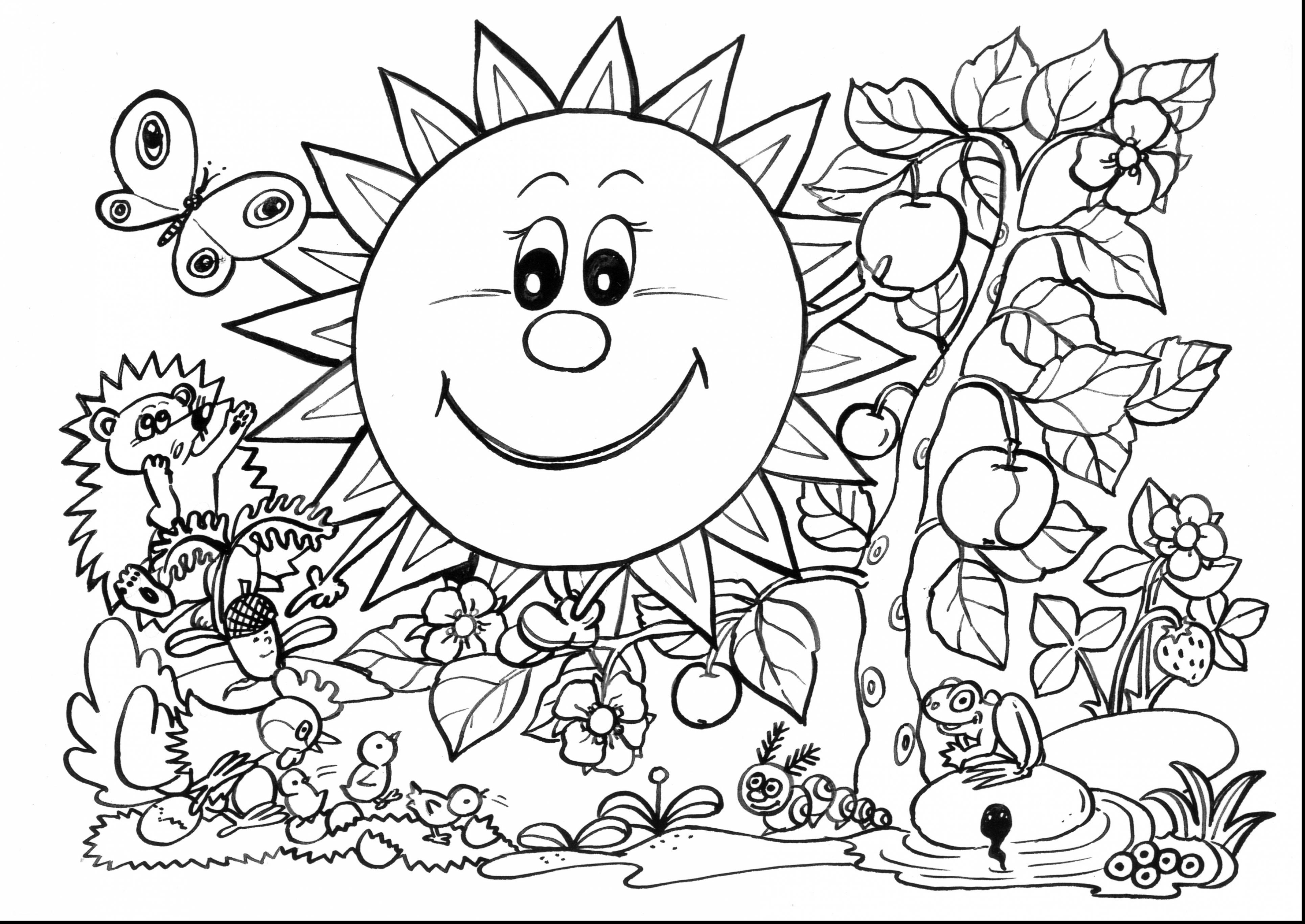 Coloring Pages ~ Free Printable Spring Flowers Coloring Pages - Spring Coloring Sheets Free Printable