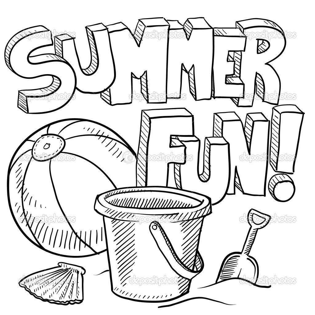Coloring Pages : Free Summer Coloring Pages For Kids Printable Theme - Summer Coloring Sheets Free Printable