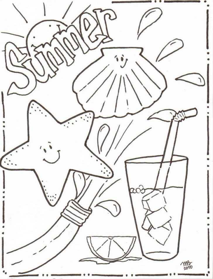 Free Printable Beach Coloring Pages