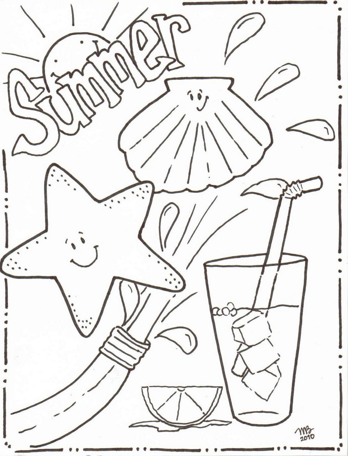 Coloring Pages : Free Toddler Summerng Pages Beach Sheets Or - Free Printable Beach Coloring Pages