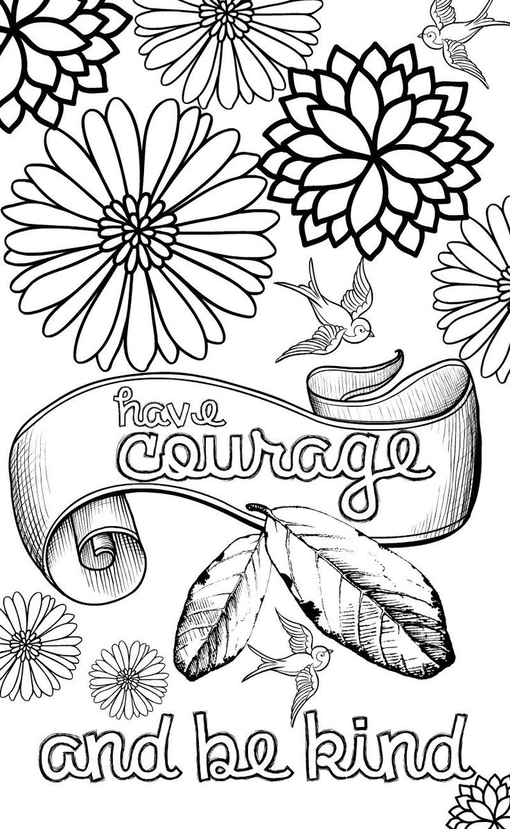 Coloring Pages ~ Freeable Coloring Pages Quotes For Adults - Free Printable Inspirational Coloring Pages