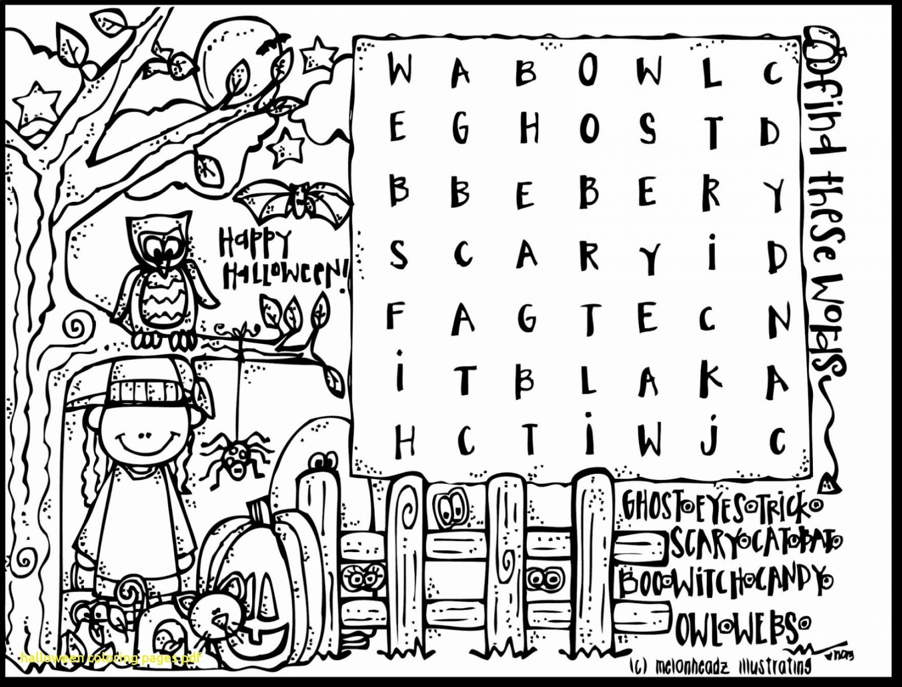 Coloring Pages : Halloweeng Pages Free Cute Printable Crazy Little - Free Printable Halloween Coloring Pages