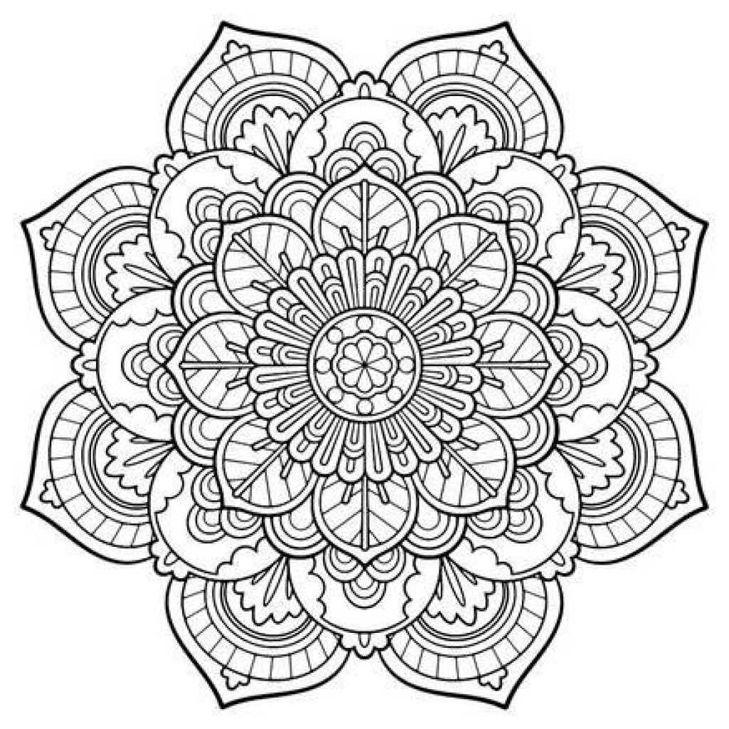 Coloring Pages Mandala Engaging Free Printable Mandalas 18 - Free Printable Mandalas
