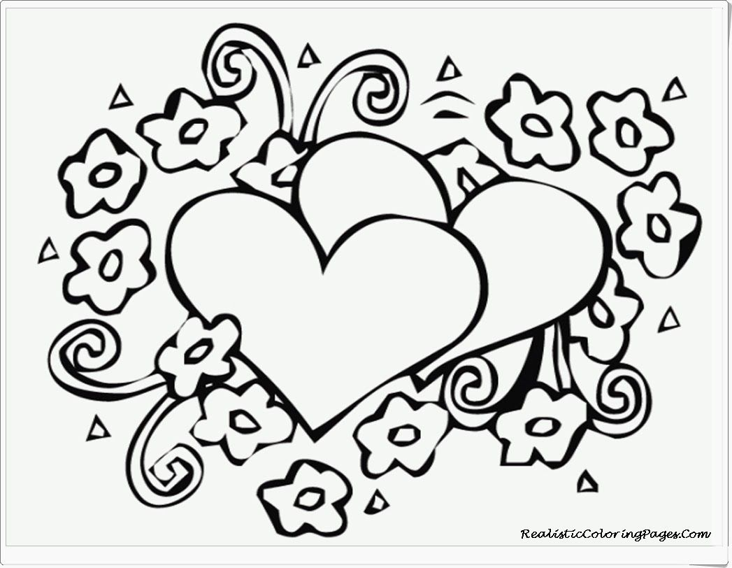 Coloring Pages : Marvelous Valentine Coloring Sheets Free Printable - Free Printable Heart Coloring Pages