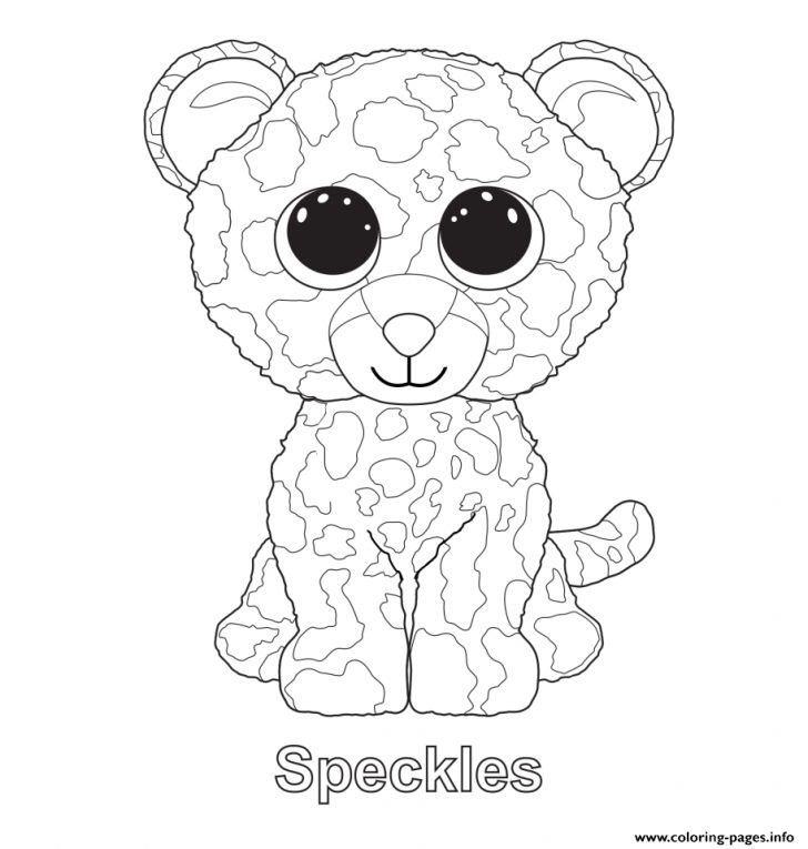 Free Printable Beanie Boo Coloring Pages