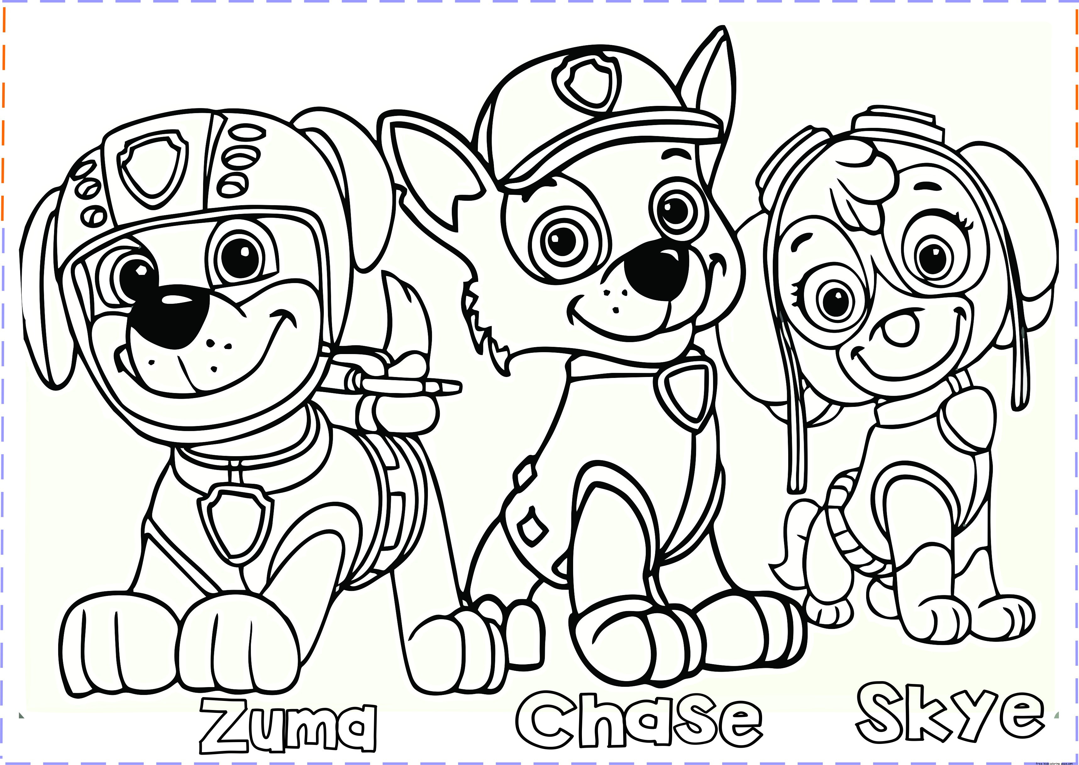 Coloring Pages : Paw Patrol Coloring Pages For Kids To Printkidsing - Free Printable Paw Patrol Coloring Pages