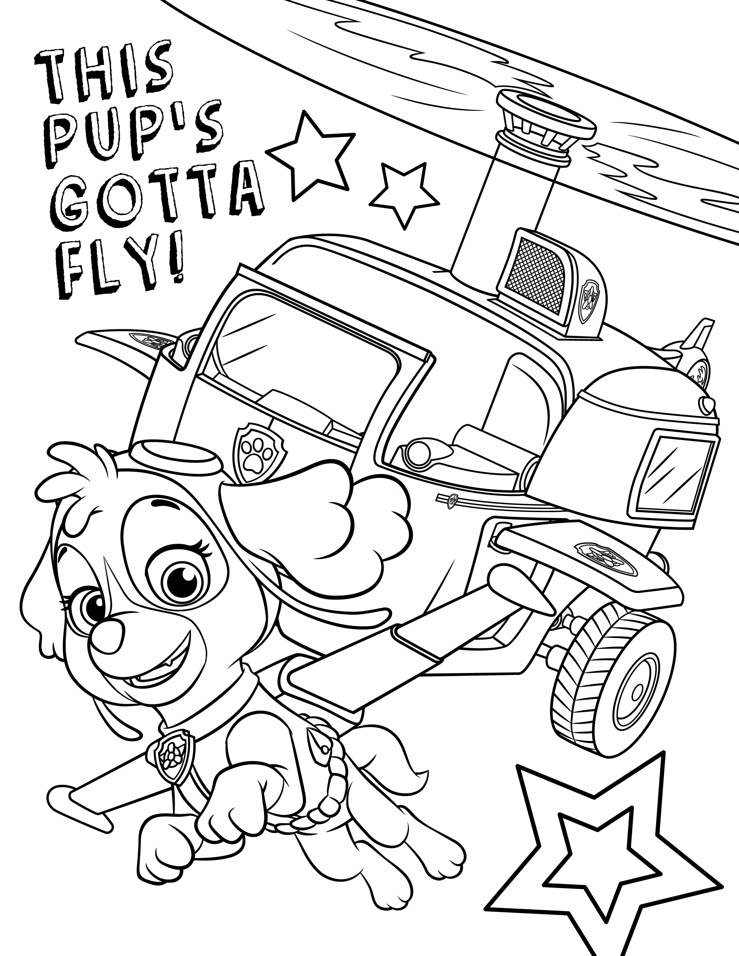 Coloring Pages : Pawpatrolcoloringpages_Skye Zuma Paw Patrol - Free Printable Paw Patrol Coloring Pages