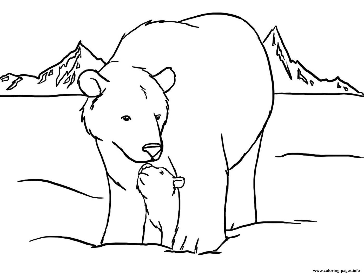 Coloring Pages : Polar Bear Coloring Pages Extraordinary Picture - Polar Bear Printable Pictures Free