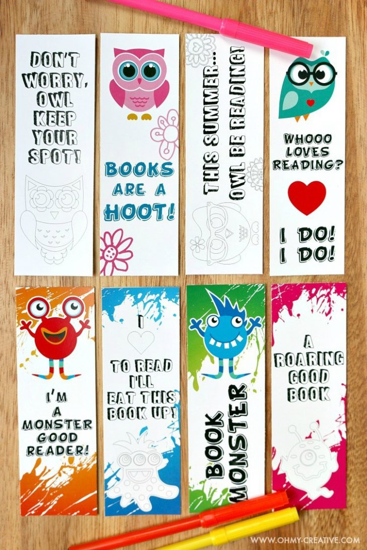 Coloring Pages ~ Printable Bookmark Coloring Pages For Kids Oh My - Free Printable Owl Bookmarks