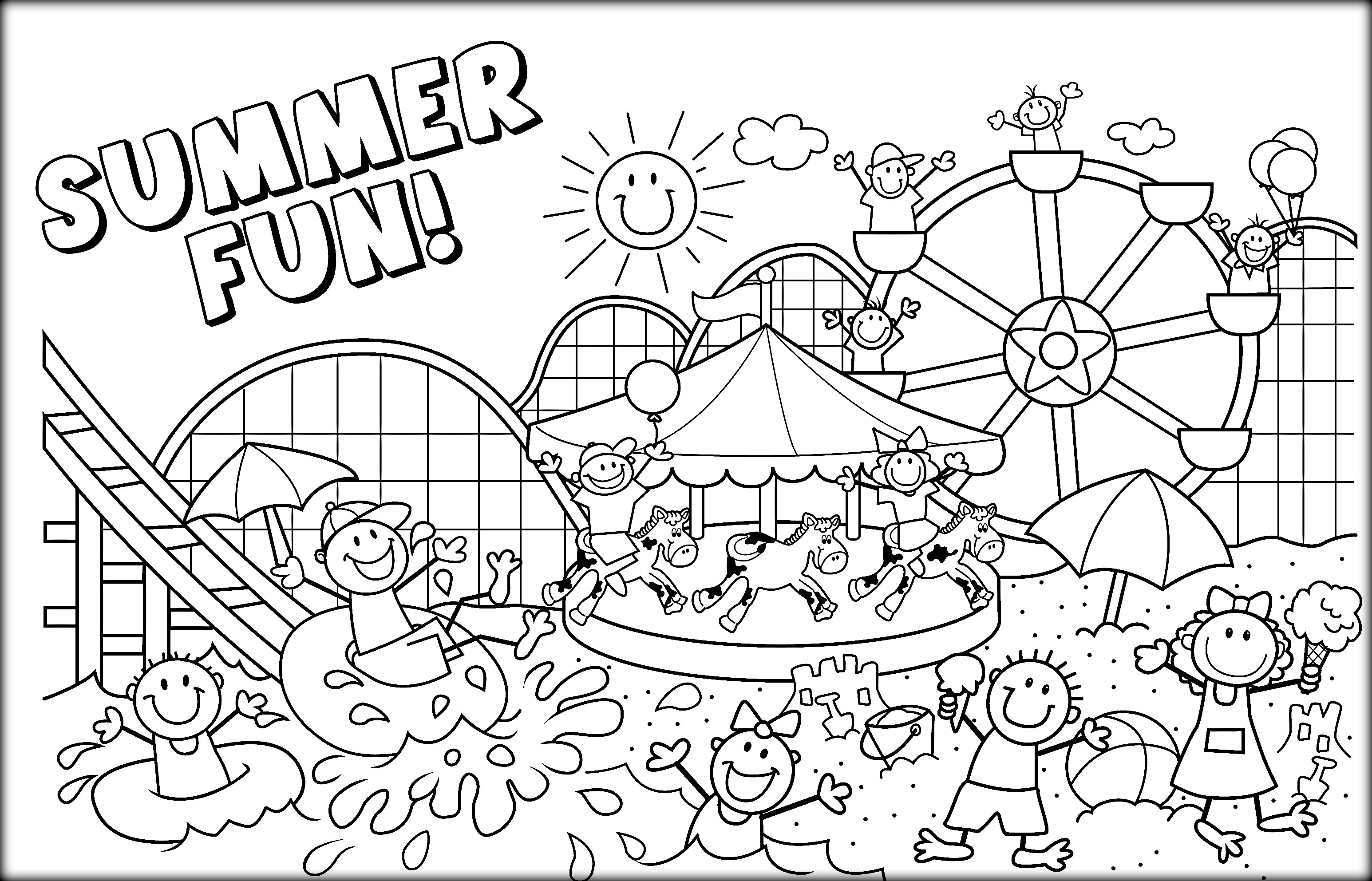 Coloring Pages : Proven Free Printable Summer Coloring Pages Ti - Free Printable Summer Coloring Pages For Adults