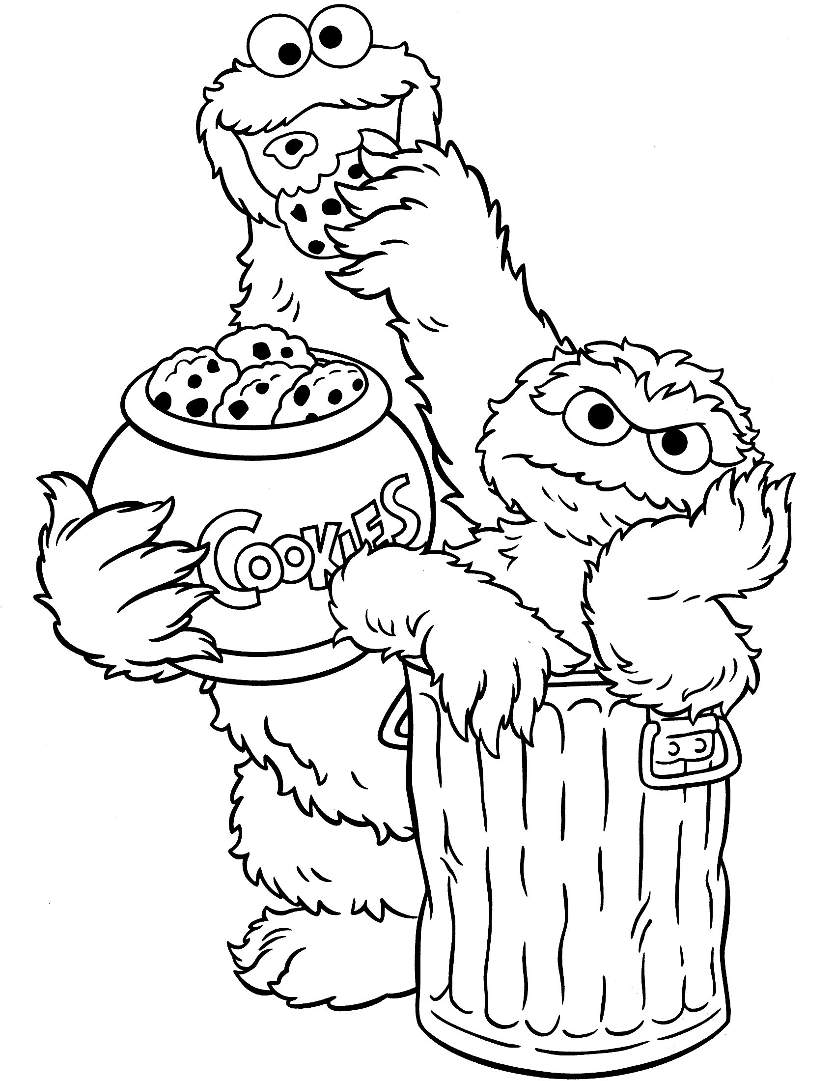 Coloring Pages : Sesame Street Characters Coloring Sheets Open Pages - Free Printable Coloring Pages Sesame Street Characters