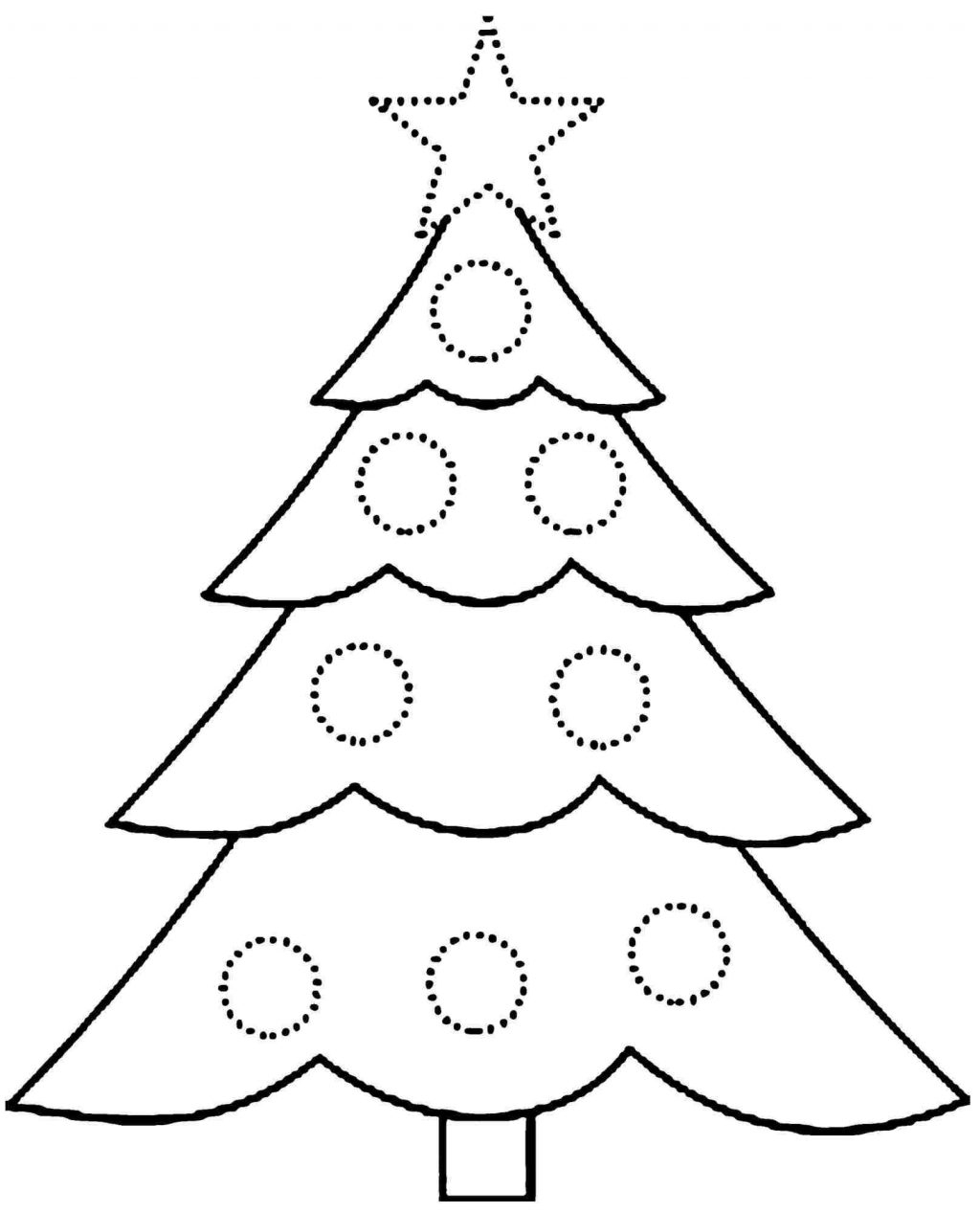 Coloring Pages ~ Simple Christmas Tree Coloring Pages Stunning Sheet - Free Printable Christmas Tree Images